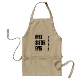 Best Sister Ever Custom Name and Sentiment W1547 Adult Apron