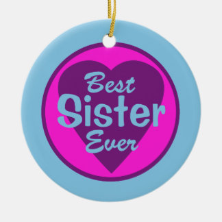 Best Sister Ever Personalized Ornament