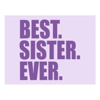 Best. Sister. Ever. (purple) Postcard