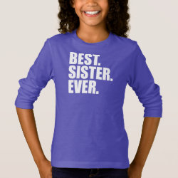 Girls' Basic Long Sleeve T-Shirt with Best. Sister. Ever. (purple) design