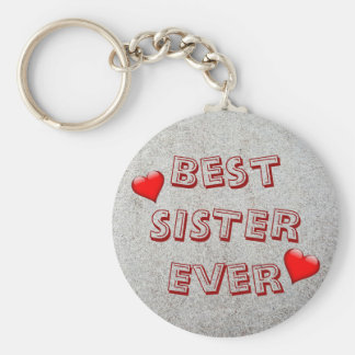 Best sister ever | Sand texture photo Keychain