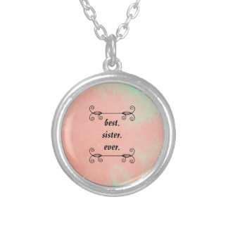 Best Sister Ever Silver Plated Necklace