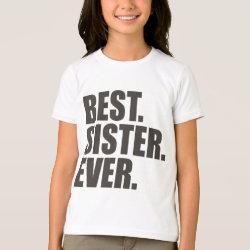 Women's Basic Hooded Sweatshirt with Best. Sister. Ever. design