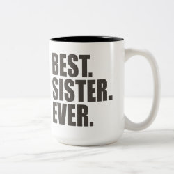 Two-Tone Mug with Best. Sister. Ever. design