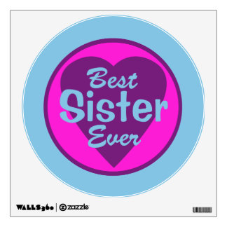 Best Sister Ever Wall Sticker