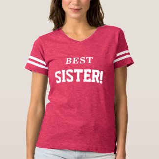 BEST SISTER Fun Football T-Shirt for Sisters