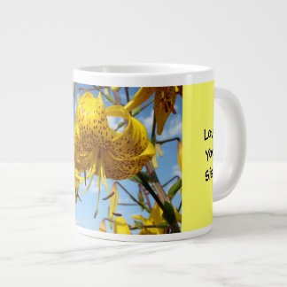 Best Sister! gift mugs Yellow Lilies Love You Sis!
