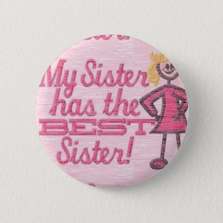 best sister humor button