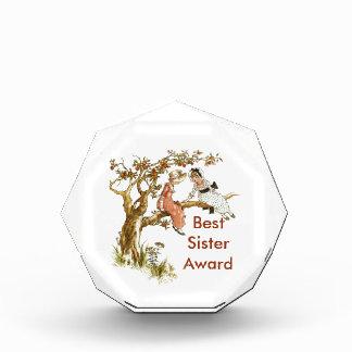 Best Sister Vintage Girls Award