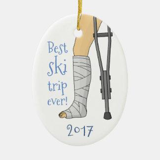 Best ski trip ever! ceramic ornament