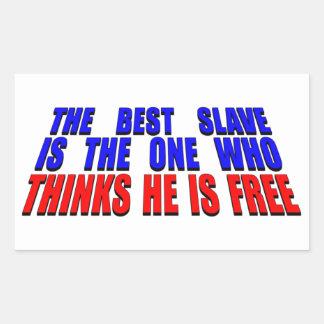 Best Slave Rectangular Sticker