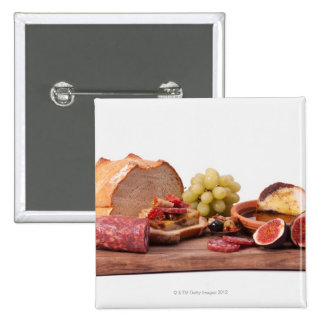 best snacks for wine 2 inch square button