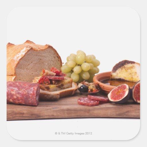 best snacks for wine square sticker