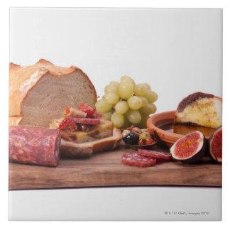 best snacks for wine large square tile