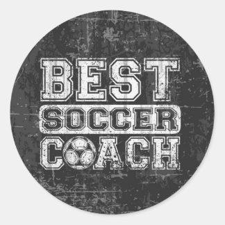 Best Soccer Coach Classic Round Sticker