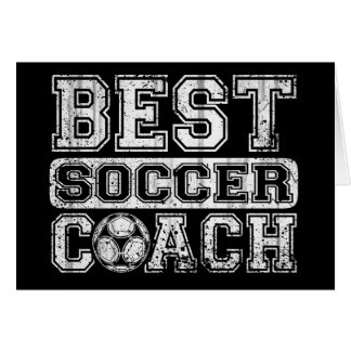 Best Soccer Coach Greeting Card