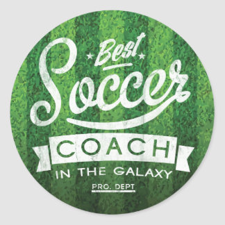 Best Soccer Coach In The Galaxy Classic Round Sticker
