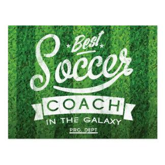 Best Soccer Coach In The Galaxy Postcard