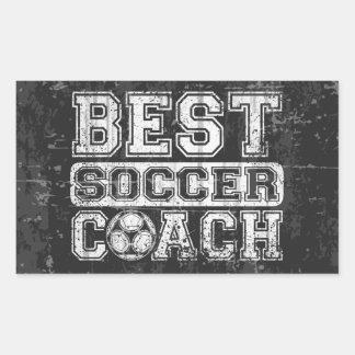 Best Soccer Coach Rectangular Sticker