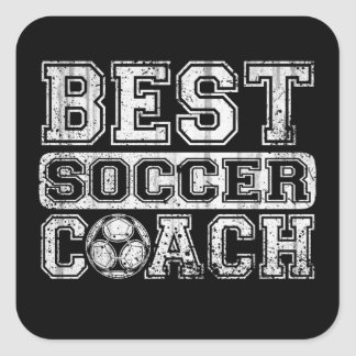 Best Soccer Coach Square Sticker