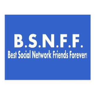 Best Social Network Friends Forever (BSNFF) Postcard