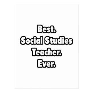 Best. Social Studies Teacher. Ever. Postcard