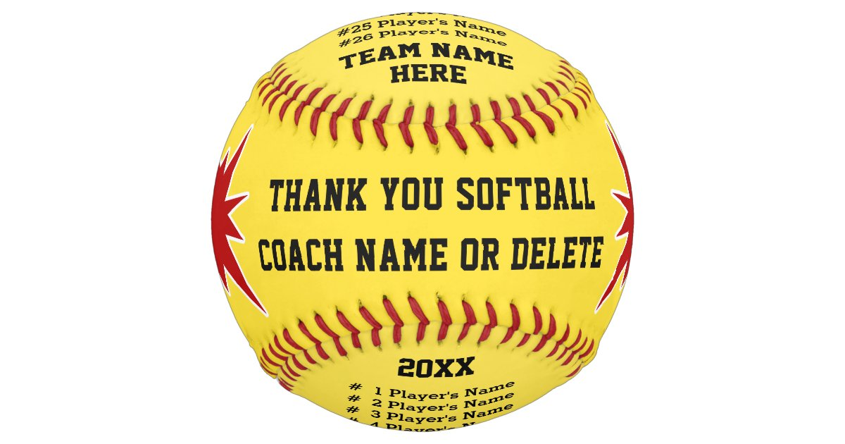 Best Softball Coach Gifts, Your Colors