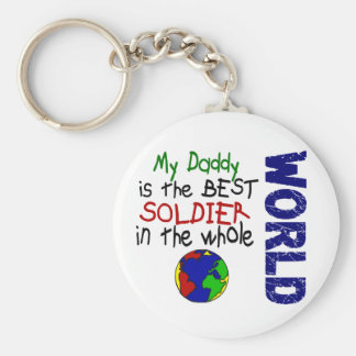 Best Soldier In World 2 (Daddy) Keychain