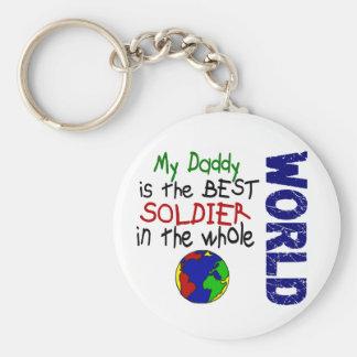 Best Soldier In World 2 (Daddy) Basic Round Button Keychain