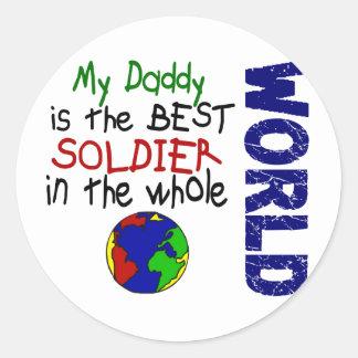 Best Soldier In World 2 (Daddy) Classic Round Sticker