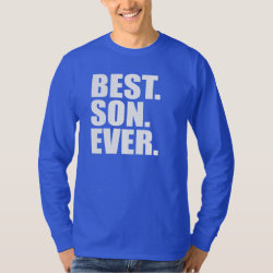 Men's Basic Long Sleeve T-Shirt with Best. Son. Ever. (blue) design