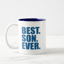 Two-Tone Mug with Best. Son. Ever. (blue) design