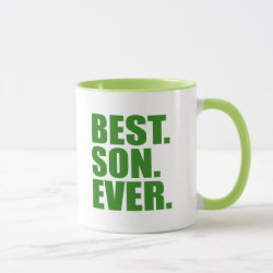 Combo Mug with Best. Son. Ever. (green) design