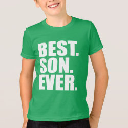 Kids' American Apparel Fine Jersey T-Shirt with Best. Son. Ever. (green) design