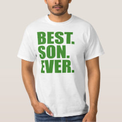 Men's Crew Value T-Shirt with Best. Son. Ever. (green) design