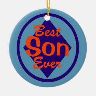 Best Son Ever Personalized Photo Ornament