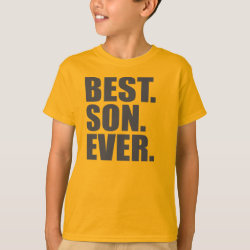 Kids' Hanes TAGLESS® T-Shirt with Best. Son. Ever. design