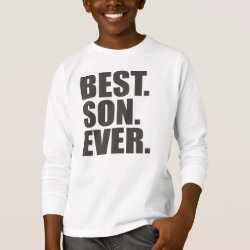 Kids' Basic Long Sleeve T-Shirt with Best. Son. Ever. design