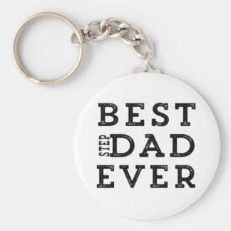 Best Step Dad Ever Basic Round Button Keychain