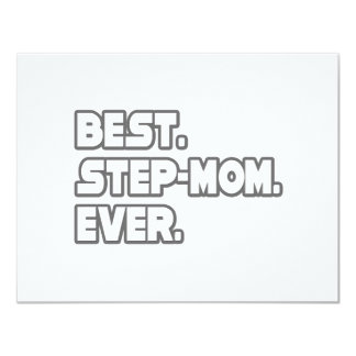 Best Step-Mom Ever 4.25x5.5 Paper Invitation Card