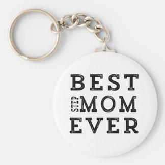 Best Step-Mom Ever Basic Round Button Keychain