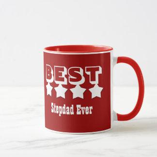 Best STEPDAD Ever 4 Stars RED and WHITE V11 Mug
