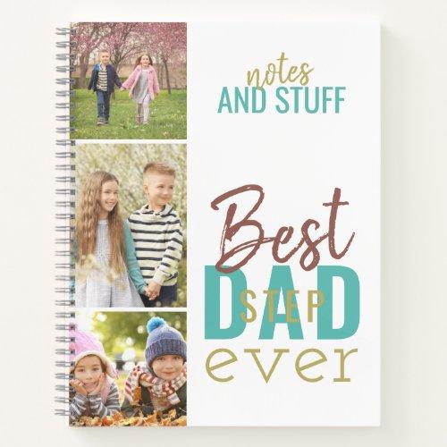 Best Stepdad Ever Custom 3 Photo Strip Notebook