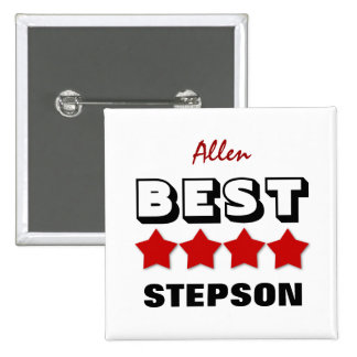 Best STEPSON with Stars RED V15 Button