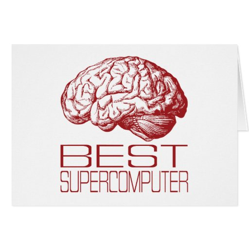 Best Supercomputer Greeting Card