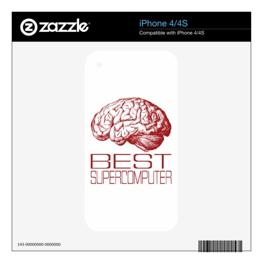 Best Supercomputer iPhone 4S Decal