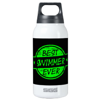 Best Swimmer Ever Green Insulated Water Bottle