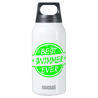 Best Swimmer Ever Green Thermos Water Bottle