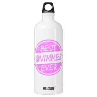 Best Swimmer Ever Pink Water Bottle