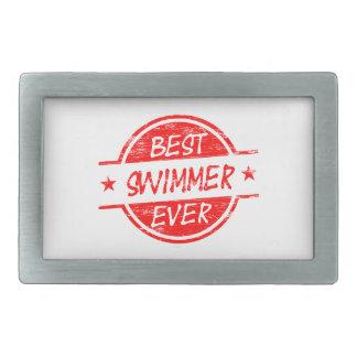 Best Swimmer Ever Red Belt Buckle
